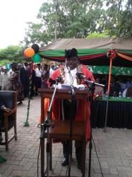Mr Maambo giving his speech